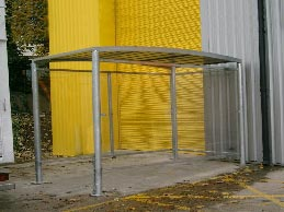Shelter constructed for fork lift storage